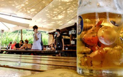 Il piacere di una bionda nel bicchiere, nonostante la distanza