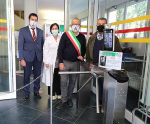Inaugurazione nuovo accesso con riconoscimento facciale alla Casa della Salute di Castel San Pietro Terme