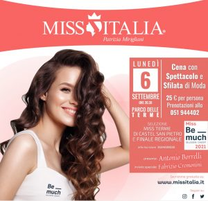 Miss Italia Miss Terme 6 settembre 2021 Castel San Pietro Terme